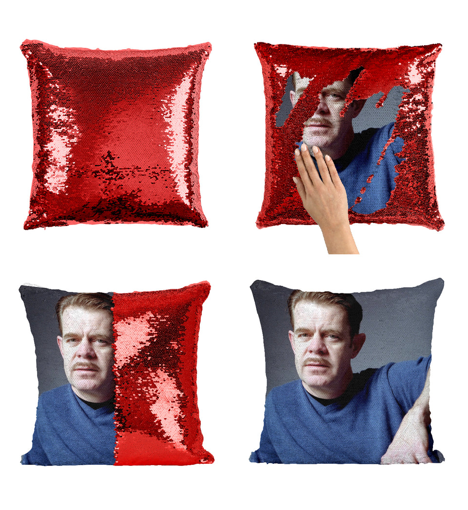 William H. Macy Actor Mustache_MA0371 Sequin Pillow