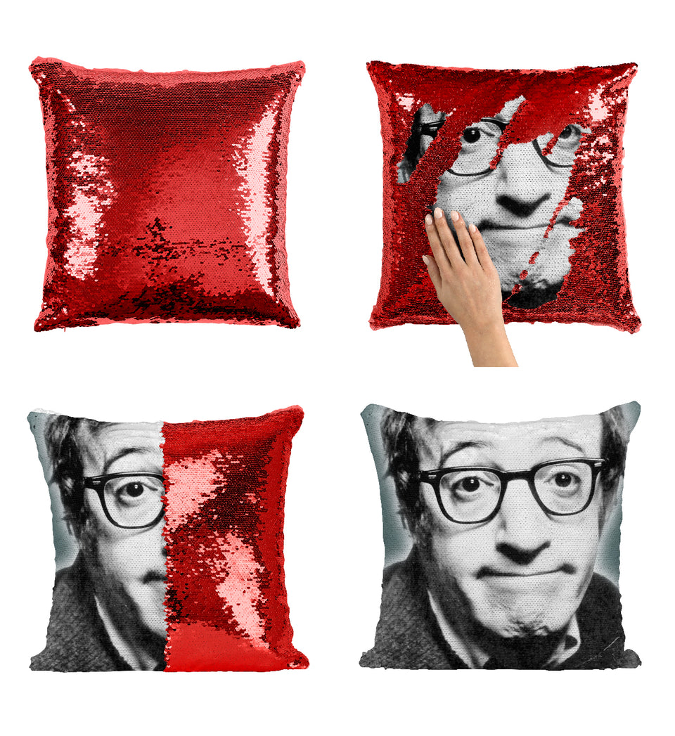 Woody Alen Young Glasses Manhattan Actor_MA0374 Sequin Pillow