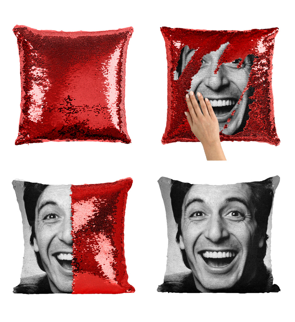 Young Actor Smilng Al Pacino Legend_MA0375 Sequin Pillow