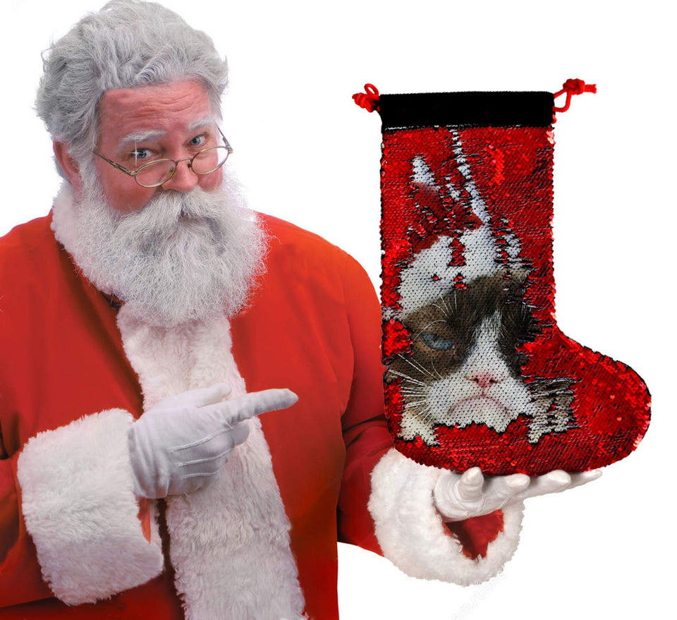 Christmas Grumpy Cat_SS0012 Gift Christmas Stocking
