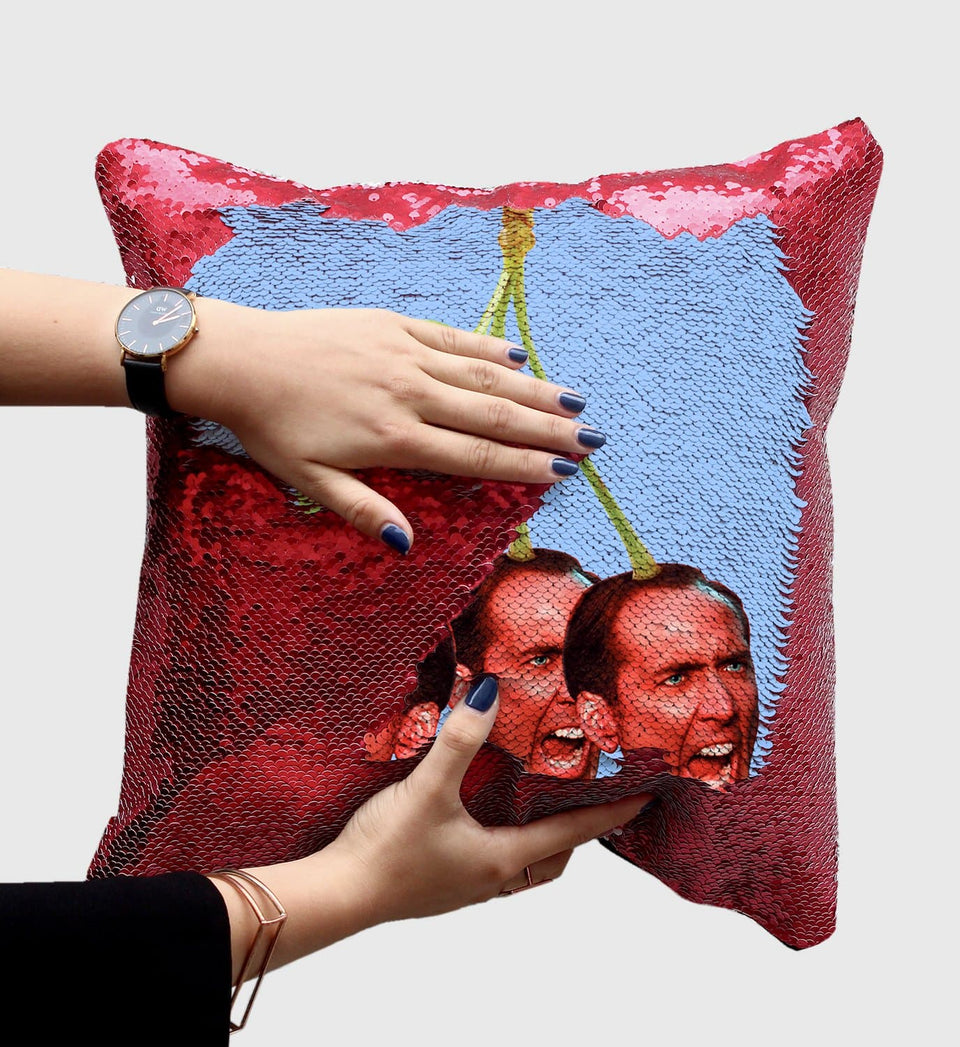 Angry Cherry Nicolas Cage | Magic Pillow