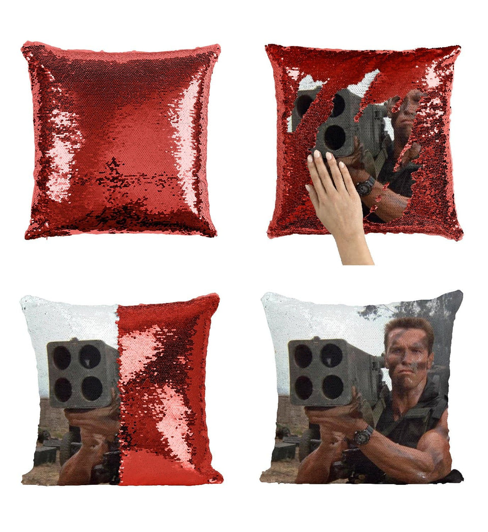 Arnold Schwarzenegger R2 Sequin Pillow