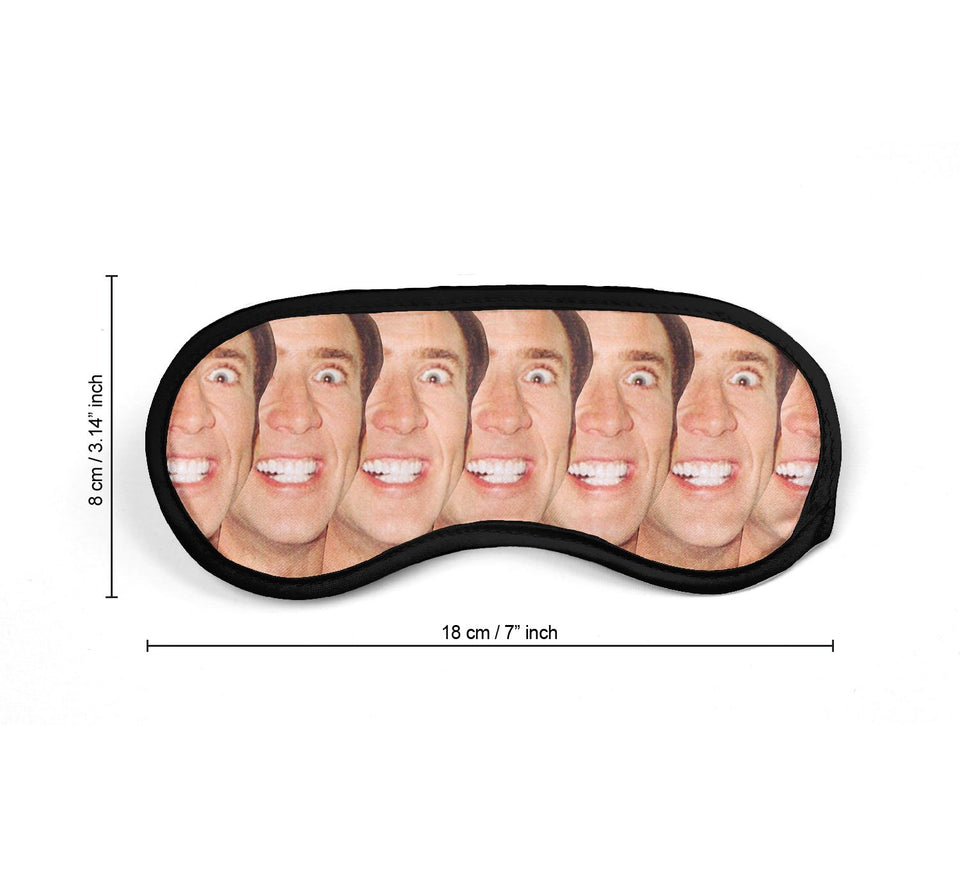 Nicolas Cage Actor Crazy Faces Pattern_SM018 Sleep mask, Sleeping Eye Masks, Traveling Accessories Women, Men, Kids, Soft Masks For Sleeping, Eye Cover For Travel, Funny Comfortable Blindfold