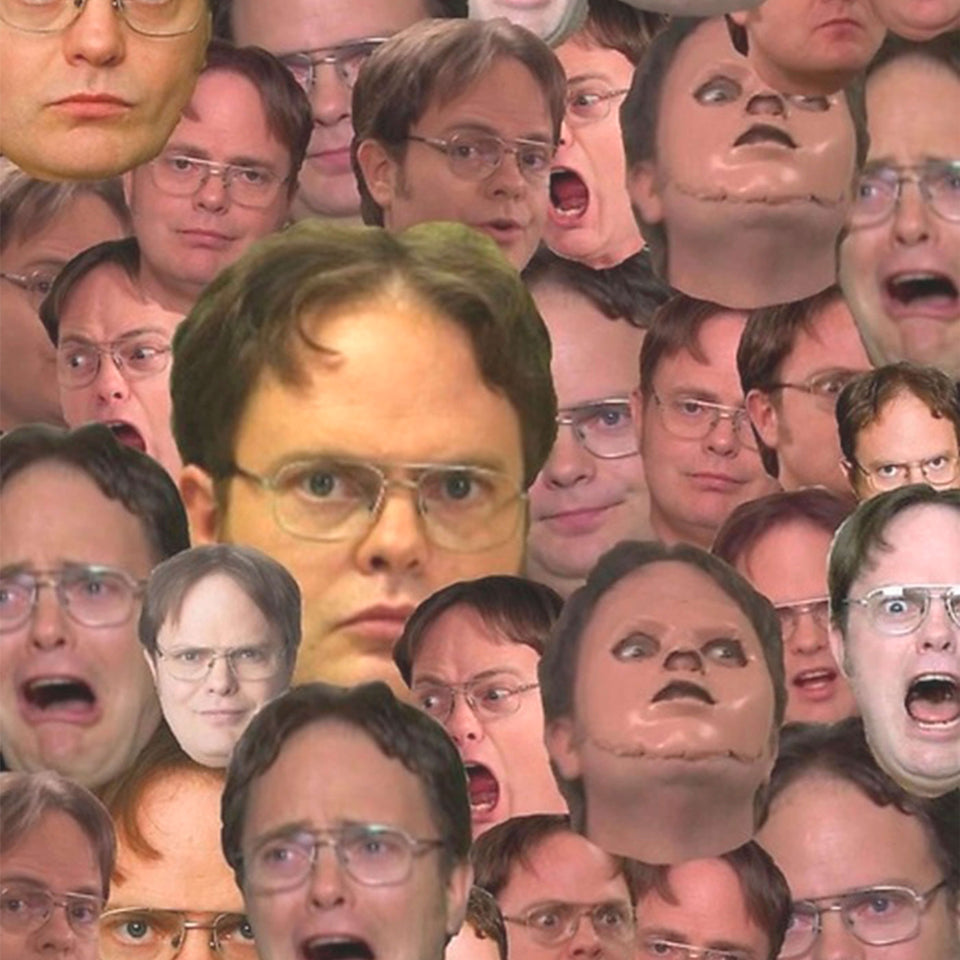 The Office Dwight Schrute Faces C105