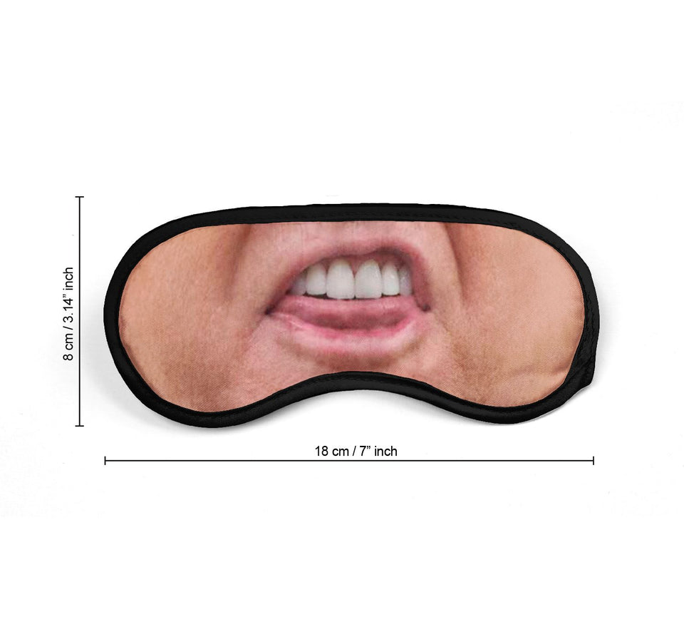 Donald Trump President Teeth_SM016 Sleep mask, Sleeping Eye Masks, Traveling Accessories Women, Men, Kids, Soft Masks For Sleeping, Eye Cover For Travel, Funny Comfortable Blindfold