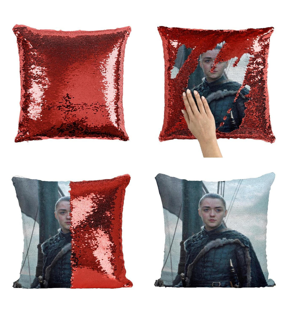 Arya Stark A Girl With No Name Warrior_MA0602 Game Of Thrones Sequin Pillow