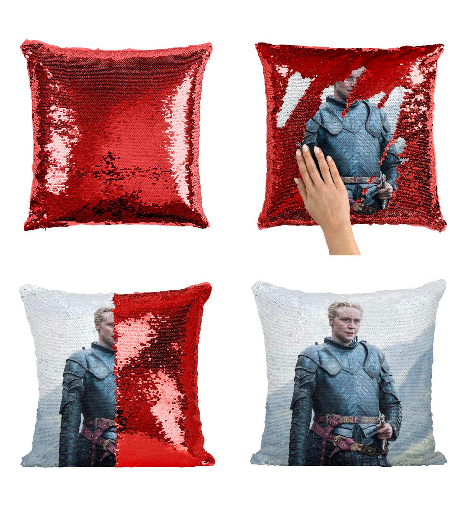 Brienne Of Tarth First Woman Knight GOT_MA0606 Game Of Thrones Sequin Pillow