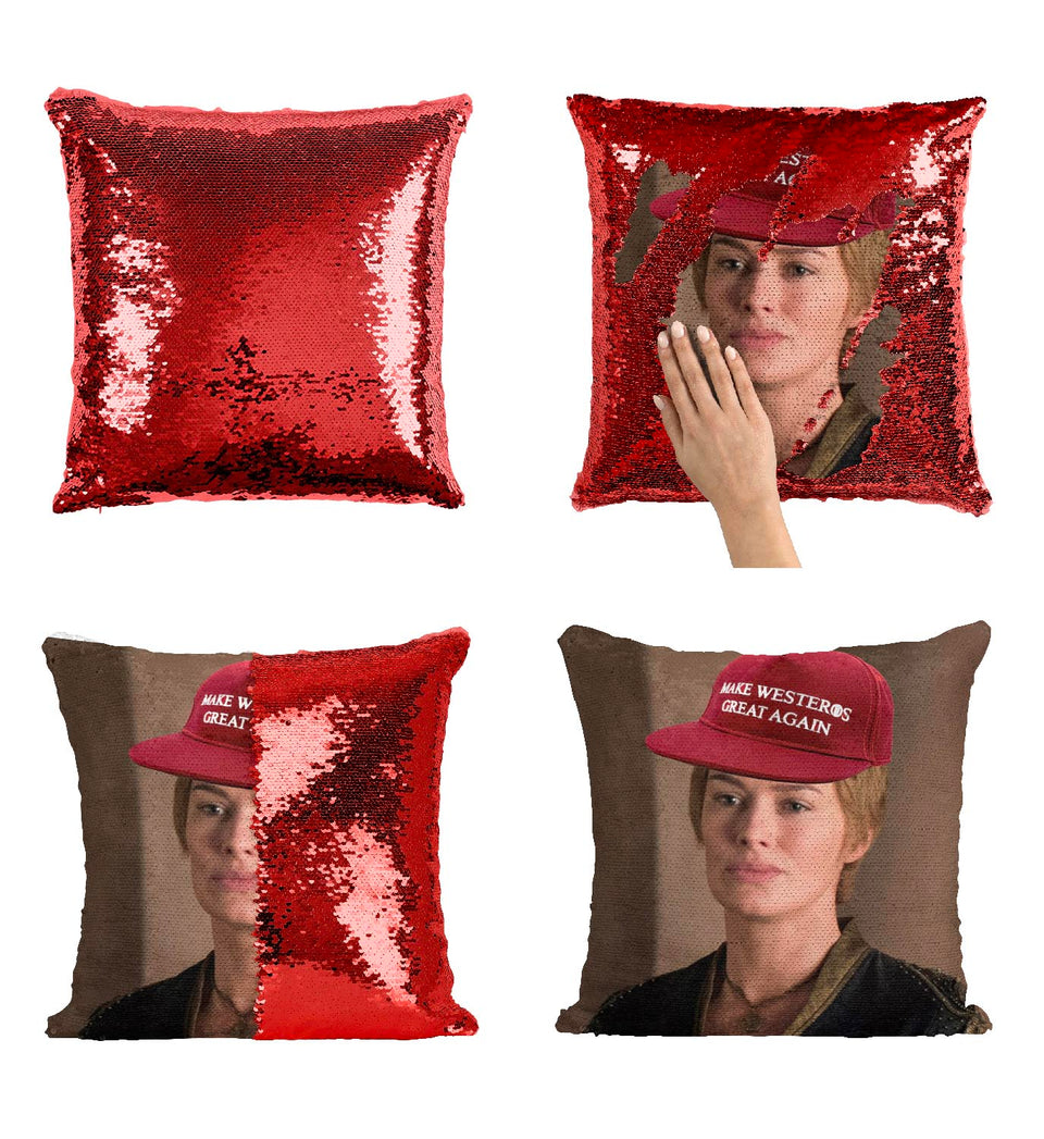 Cersei Lannister Make Westeros Great Again Cap_MA0607 Game Of Thrones Sequin Pillow