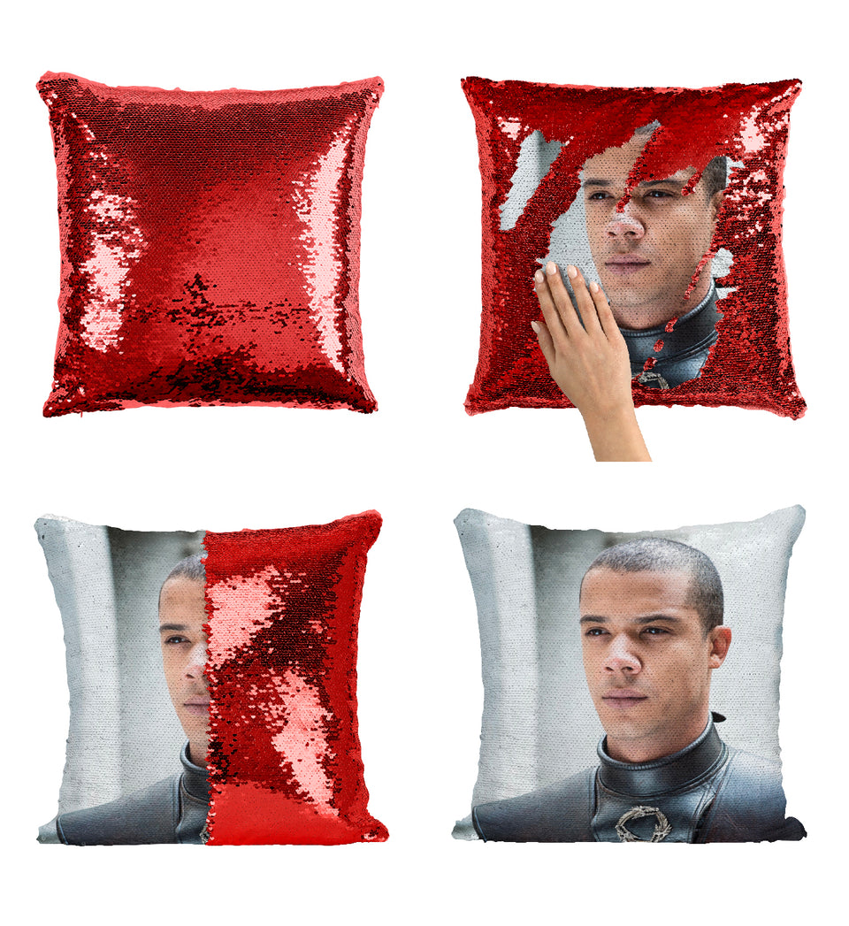 Grey Worm Fearless Fighter Got Character_MA0611 Game Of Thrones Sequin Pillow