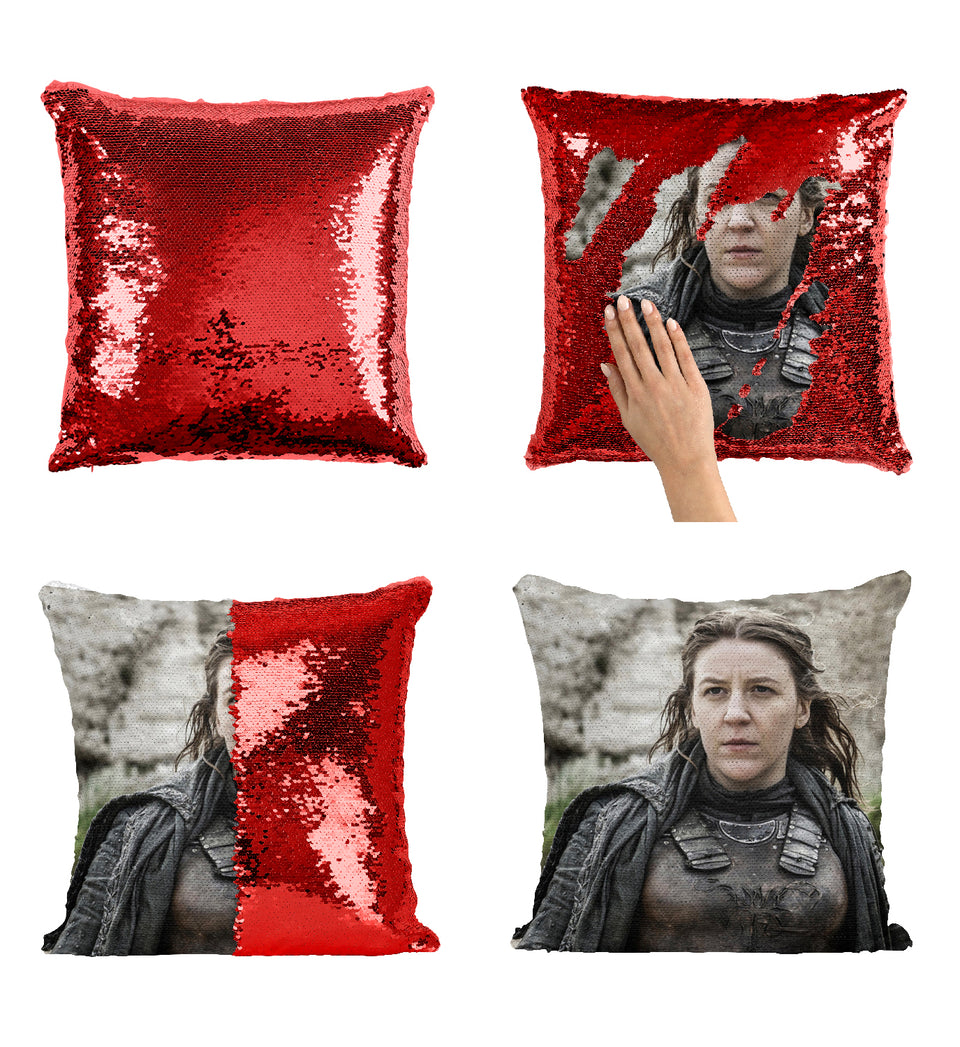 Yara Greyjoy Strong Woman Got Iron Islands_MA0629 Game Of Thrones Sequin Pillow