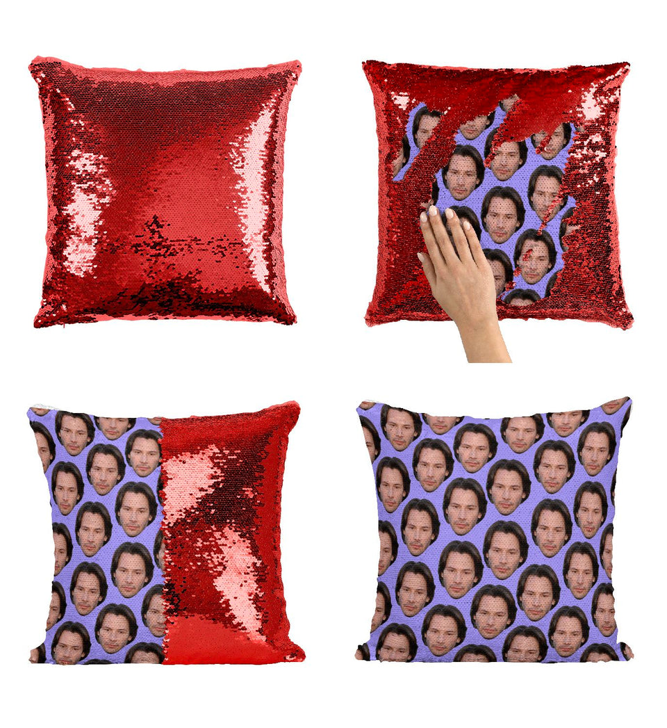 Gorgeous Keanu Reeves Actor Face Pattern_P416 Pillow