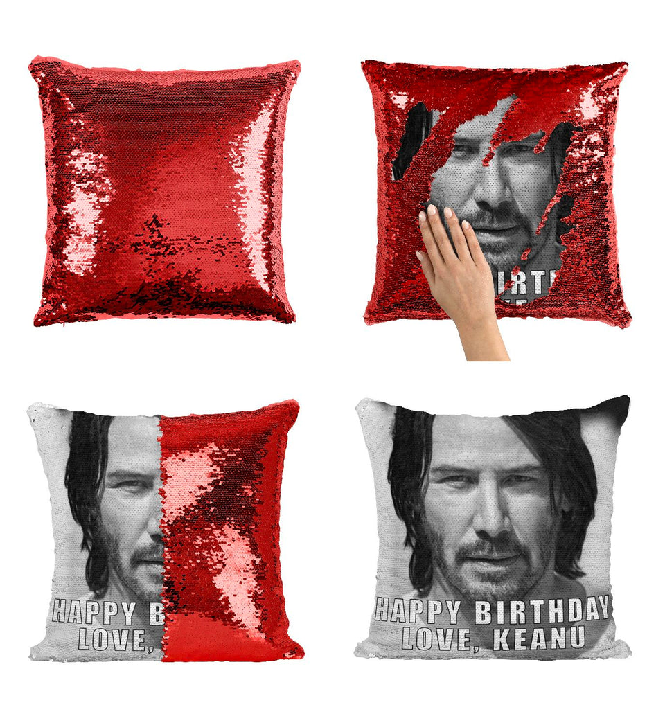 Keanu Reeves Wishes Happy Birthday_P419 Pillow