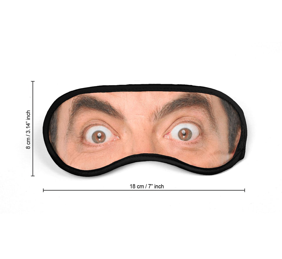 Mister Bean Actor Eyes_SM020 Sleep mask, Sleeping Eye Masks, Traveling Accessories Women, Men, Kids, Soft Masks For Sleeping, Eye Cover For Travel, Funny Comfortable Blindfold