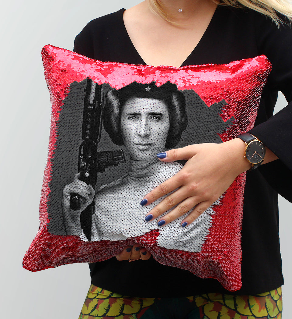 Nicolas Cage Princess Stars Gun | Magic Pillow