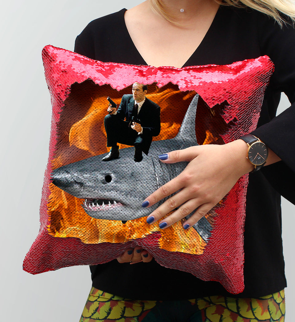 Nicolas Cage Shark Gun | Magic Pillow