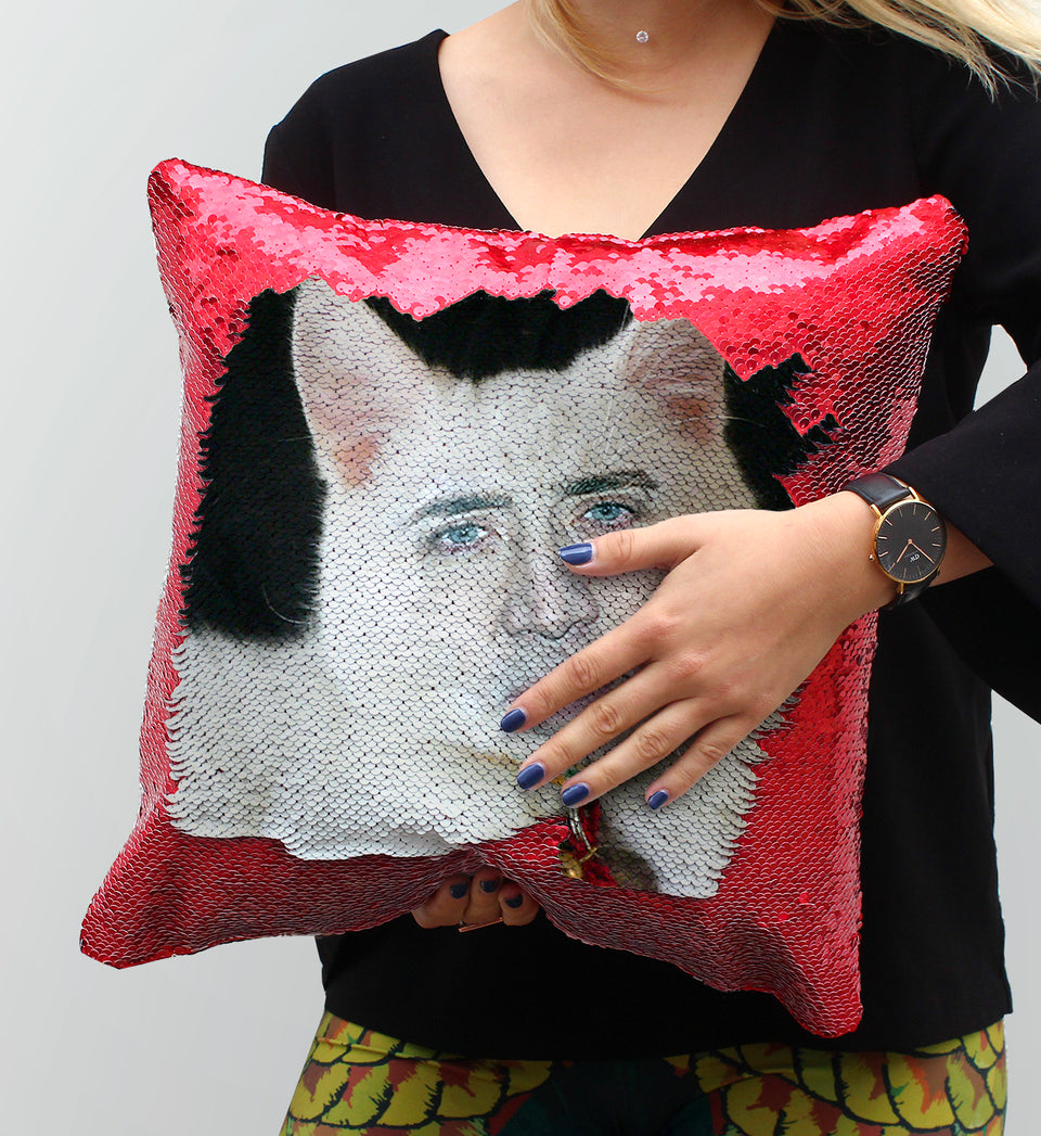 Nicolas Cage White Cute Cat | Magic Pillow
