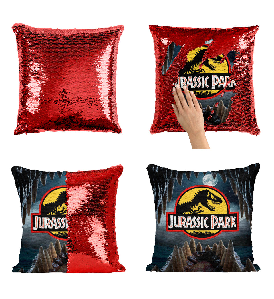 Jurassic Park Sequin Pillow