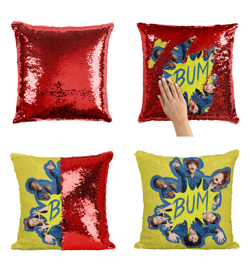 Bum Tv Series Stranger TV Things Graphic_MA0651 Stranger Things Sequin Pillow