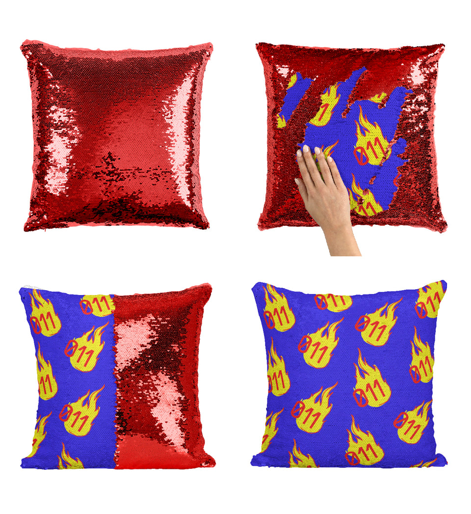 Burning Elevens Number Stranger TV Things Series_MA0652 Stranger Things Sequin Pillow
