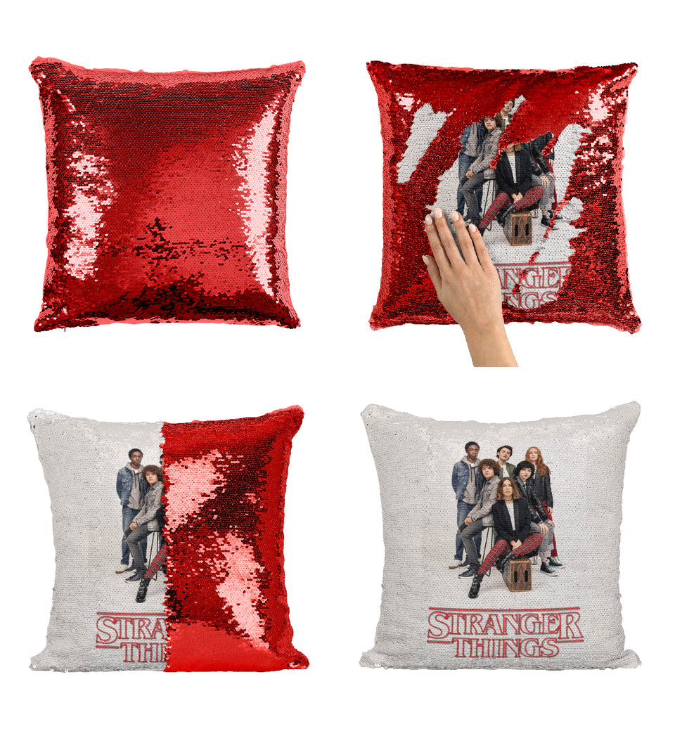 Cast Members Stranger TV Things_MA0653 Stranger Things Sequin Pillow
