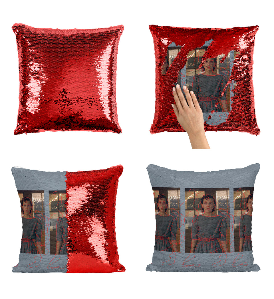 Stranger Things Millie Bobby Brown_MA0658 Stranger Things Sequin Pillow