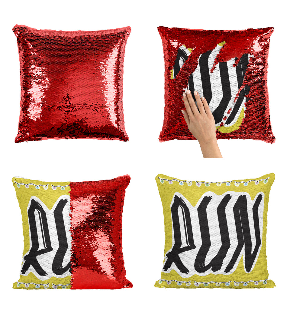 Stranger TV Things Lights Run Scary_MA0661 Stranger Things Sequin Pillow