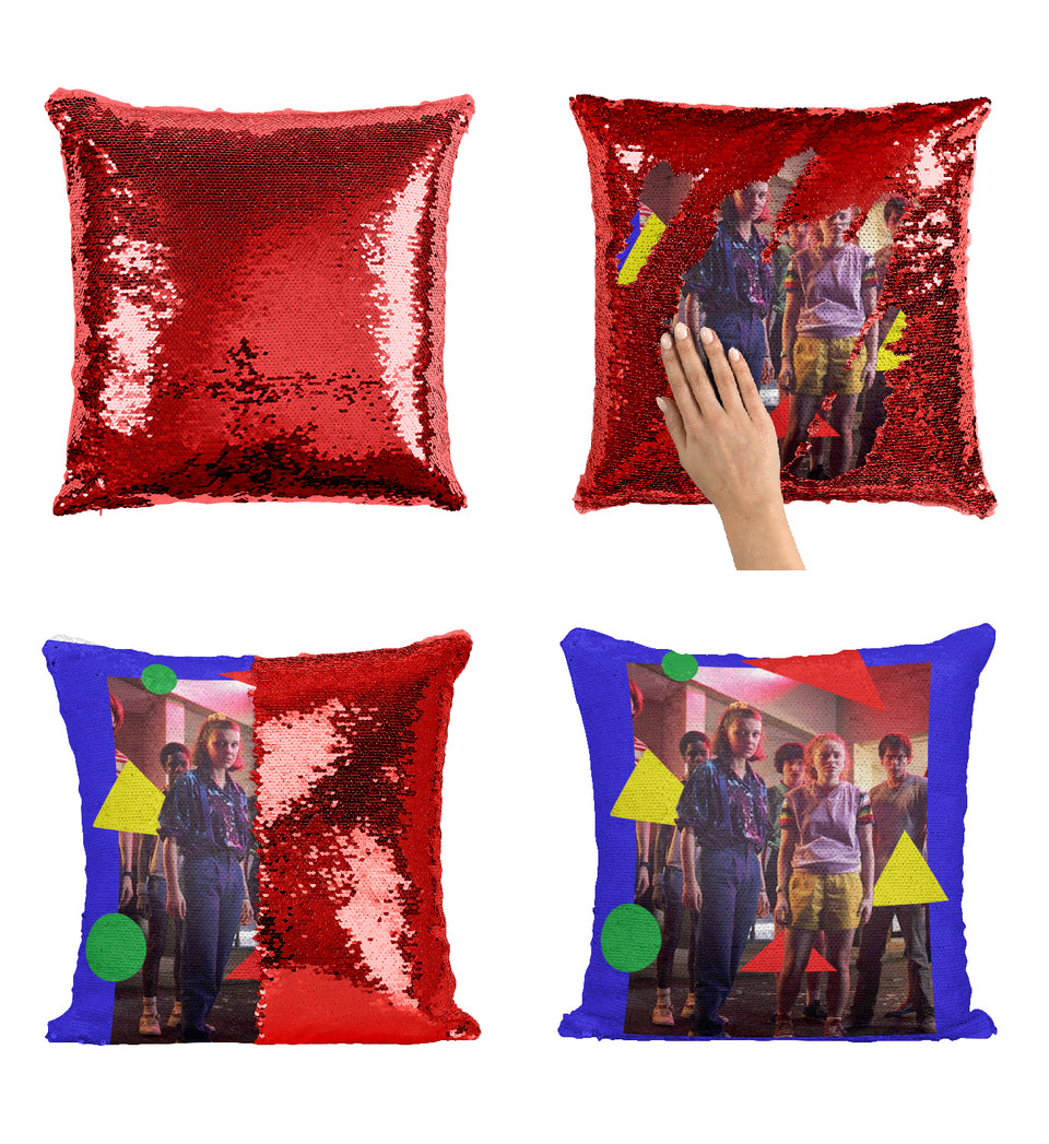 Stranger TV Things Scene Retro Outfits_MA0662 Stranger Things Sequin Pillow