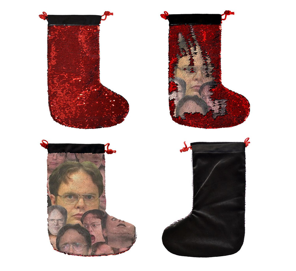 Dwight Schrute Faces_SS0033 Gift Christmas Stocking