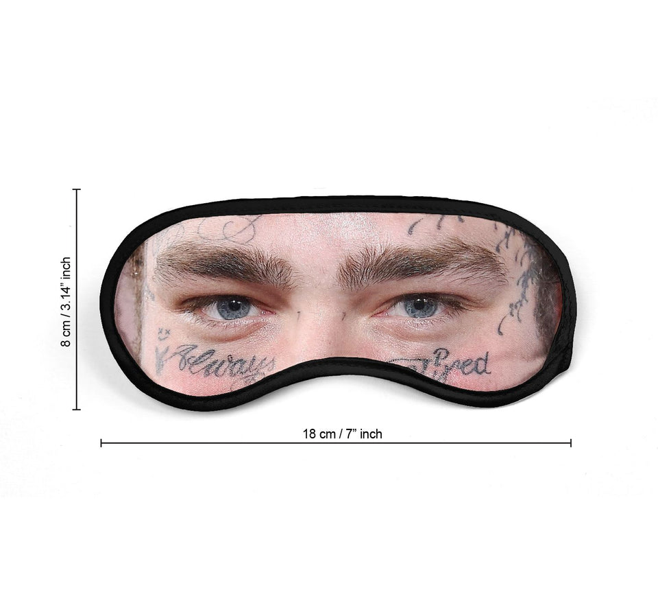 Post Malone Rapper Eyes Music_SM008 Sleep mask, Sleeping Eye Masks, Traveling Accessories Women, Men, Kids, Soft Masks For Sleeping, Eye Cover For Travel, Funny Comfortable Blindfold