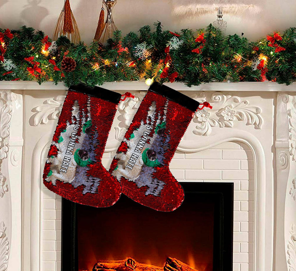 Christmas Pug Dog Haters_SS0039 Gift Christmas Stocking