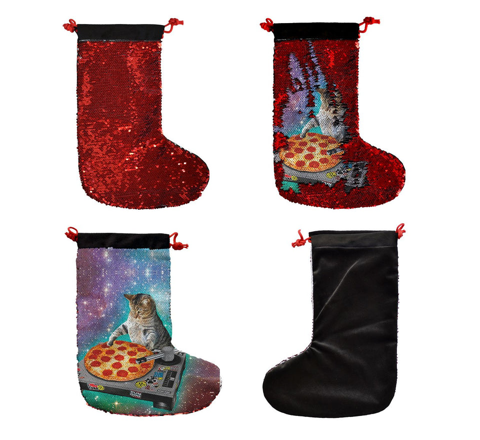 DJ Cat Pizza Music Gift_SS0031 Gift Christmas Stocking
