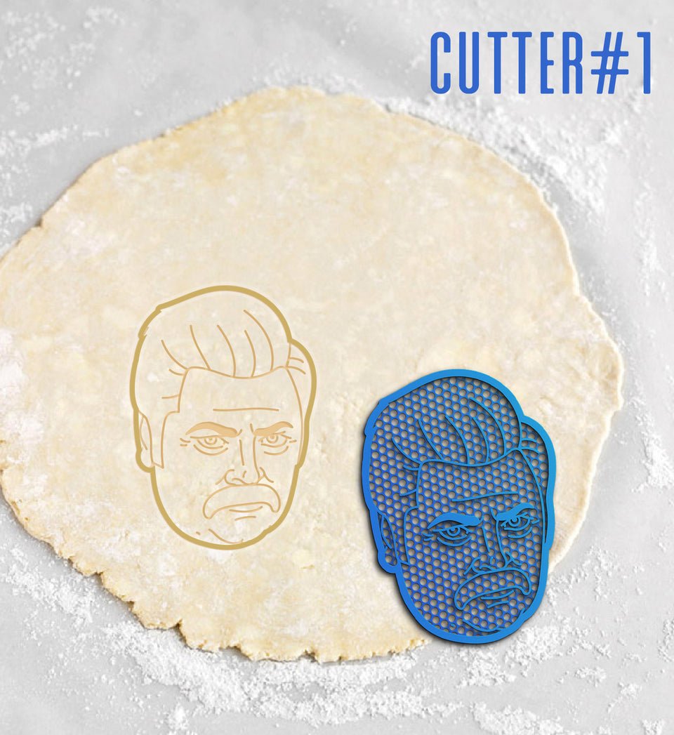 Exclusive Ron Swanson Cookie Cutters