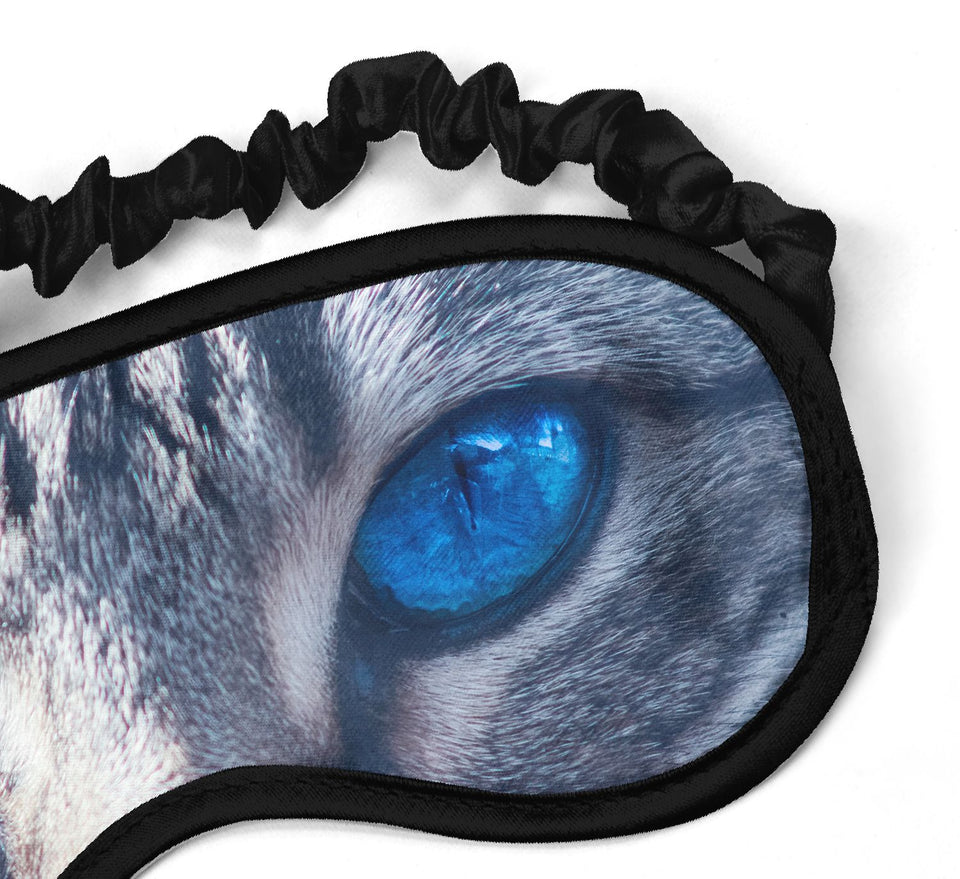 Cat Diamond Blue Eyes_SM013 Sleep mask, Sleeping Eye Masks, Traveling Accessories Women, Men, Kids, Soft Masks For Sleeping, Eye Cover For Travel, Funny Comfortable Blindfold