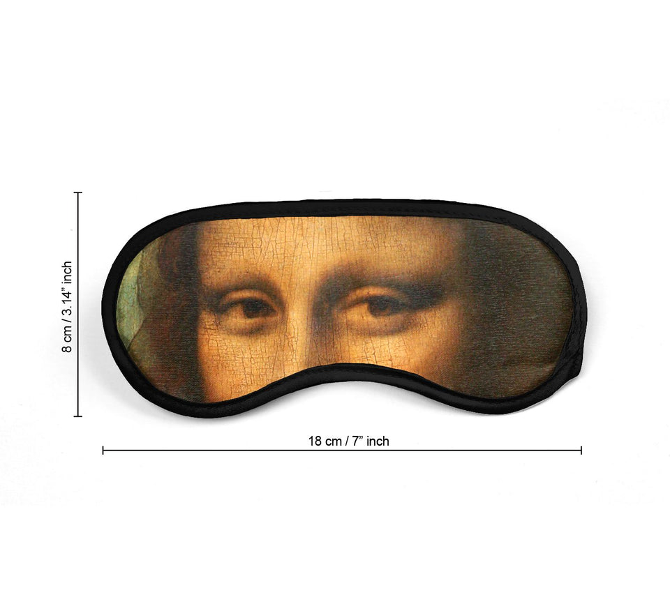 Mona Lisa Joconde Da Vinci Eyes_SM014 Sleep mask, Sleeping Eye Masks, Traveling Accessories Women, Men, Kids, Soft Masks For Sleeping, Eye Cover For Travel, Funny Comfortable Blindfold
