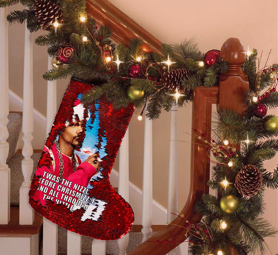 Christmas Snoop Dog Santa Weed_SS0023 Gift Christmas Stocking