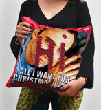 Christmas Nicolas Cage Sequin Pillow, C10