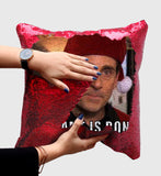 Steve Carell Santa Sequin Pillow, C31