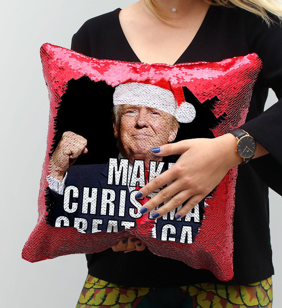 Great Christmas Sequin Pillow, C17