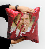 It's Christmas Sequin Pillow, C25