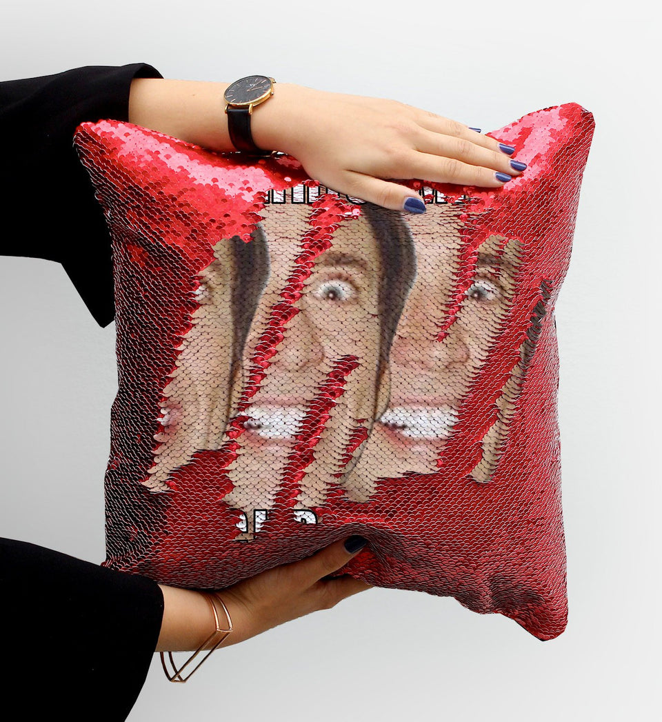 Cage Christmas Sequin Pillow, C04