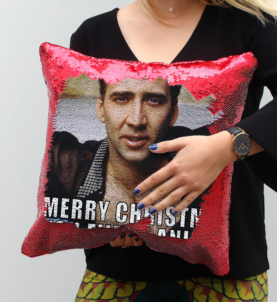 Sexy Nicolas Cage Sequin Pillow, C09