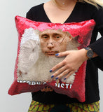 Santa Putin Sequin Pillow, C19