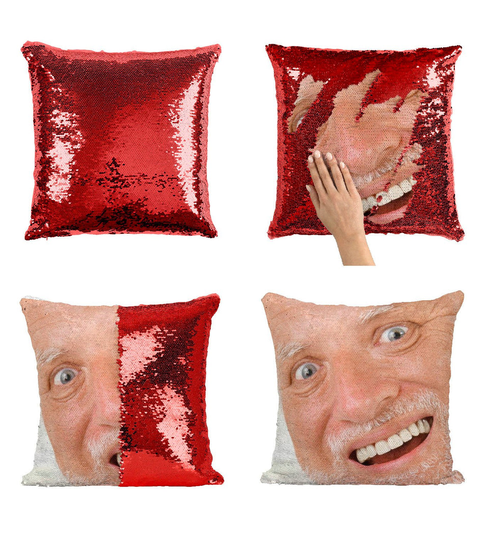 Harold Hide The Pain Meme H1 Sequin Pillow