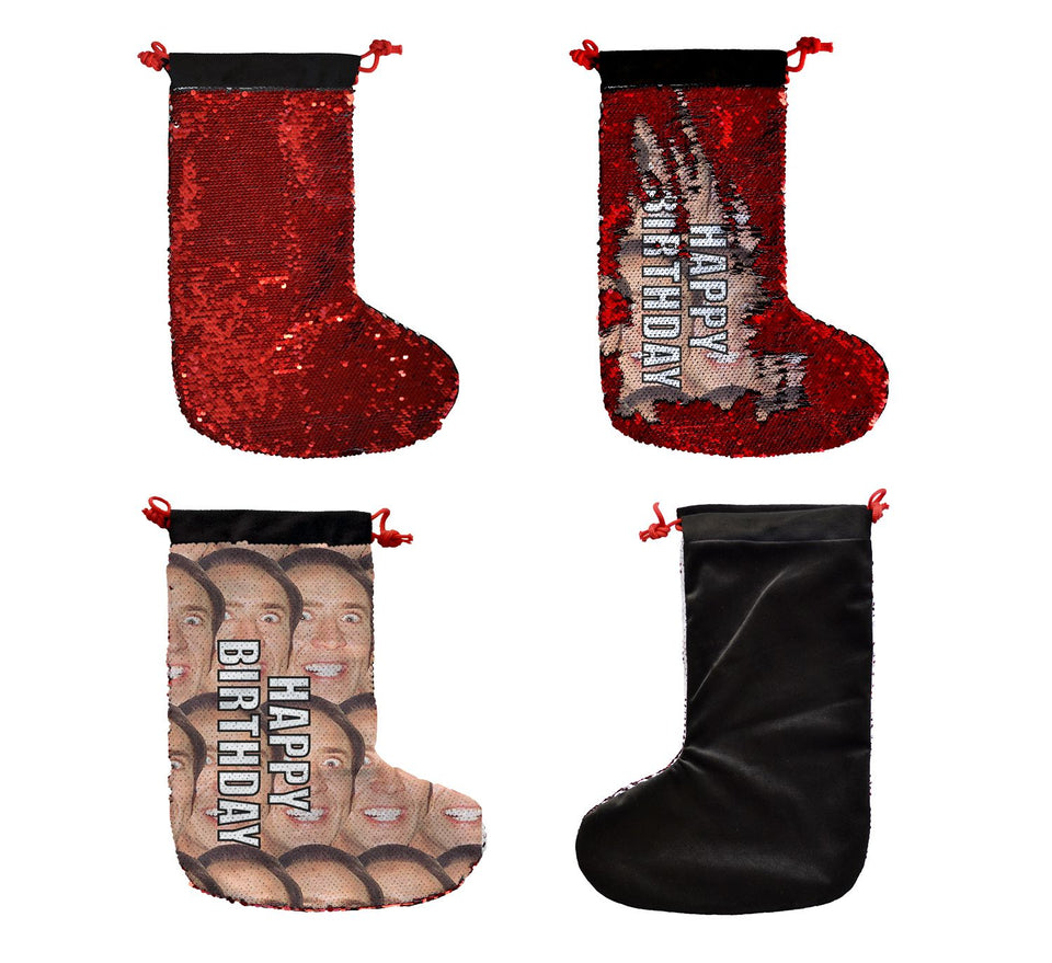 Happy Birthday Nicolas Cage Faces Actor _SS0037 Gift Christmas Stocking