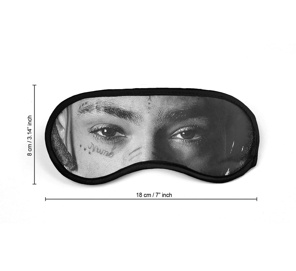 XXXTentacion Black White Rapper Music_SM002 Sleep mask, Sleeping Eye Masks, Traveling Accessories Women, Men, Kids, Soft Masks For Sleeping, Eye Cover For Travel, Funny Comfortable Blindfold