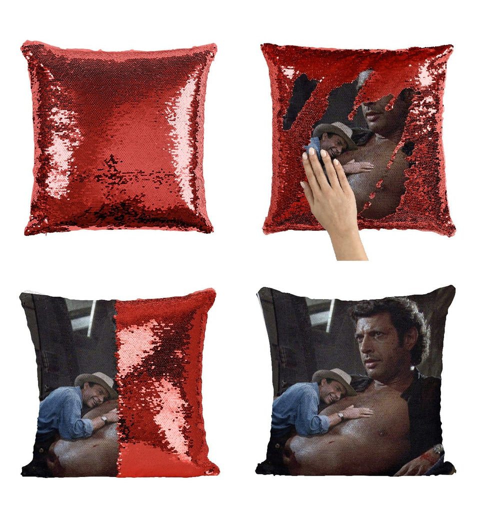 Actor Jeff Goldblum Topless Sweaty Sexy_MA0791 Sequin Pillow