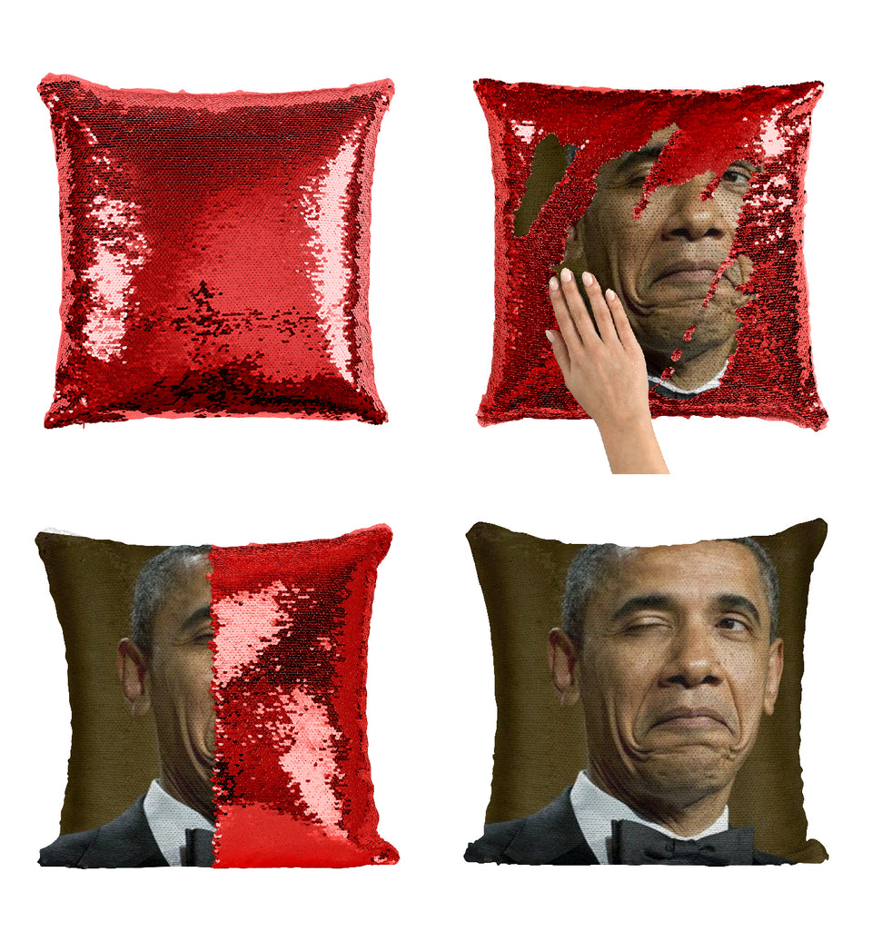 Barack Obama Not Bad Face_MA0793 Sequin Pillow