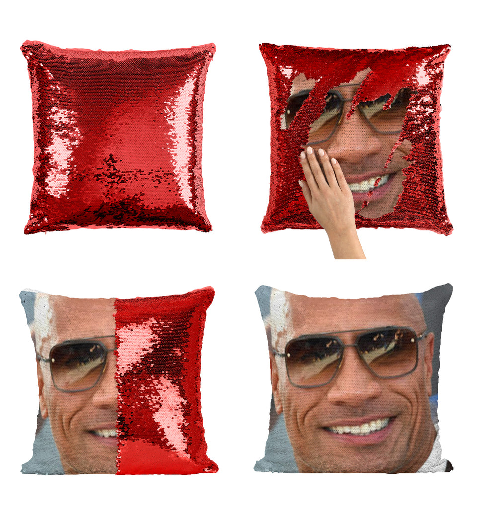 Dwayne The Rock Johnson Cool Sunglasses_MA0811 Sequin Pillow