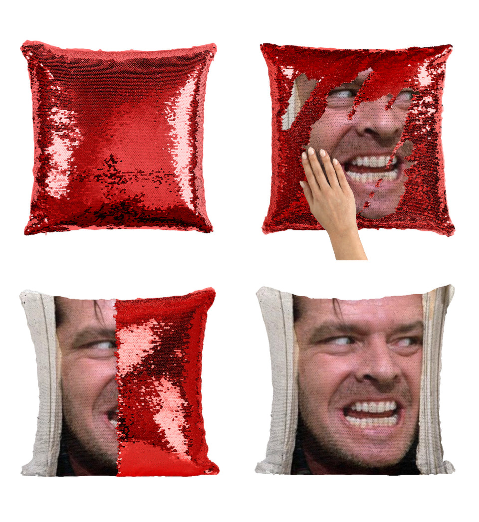 Here Comes Johnny Jack Nicholson Face Horror_MA0821 Sequin Pillow