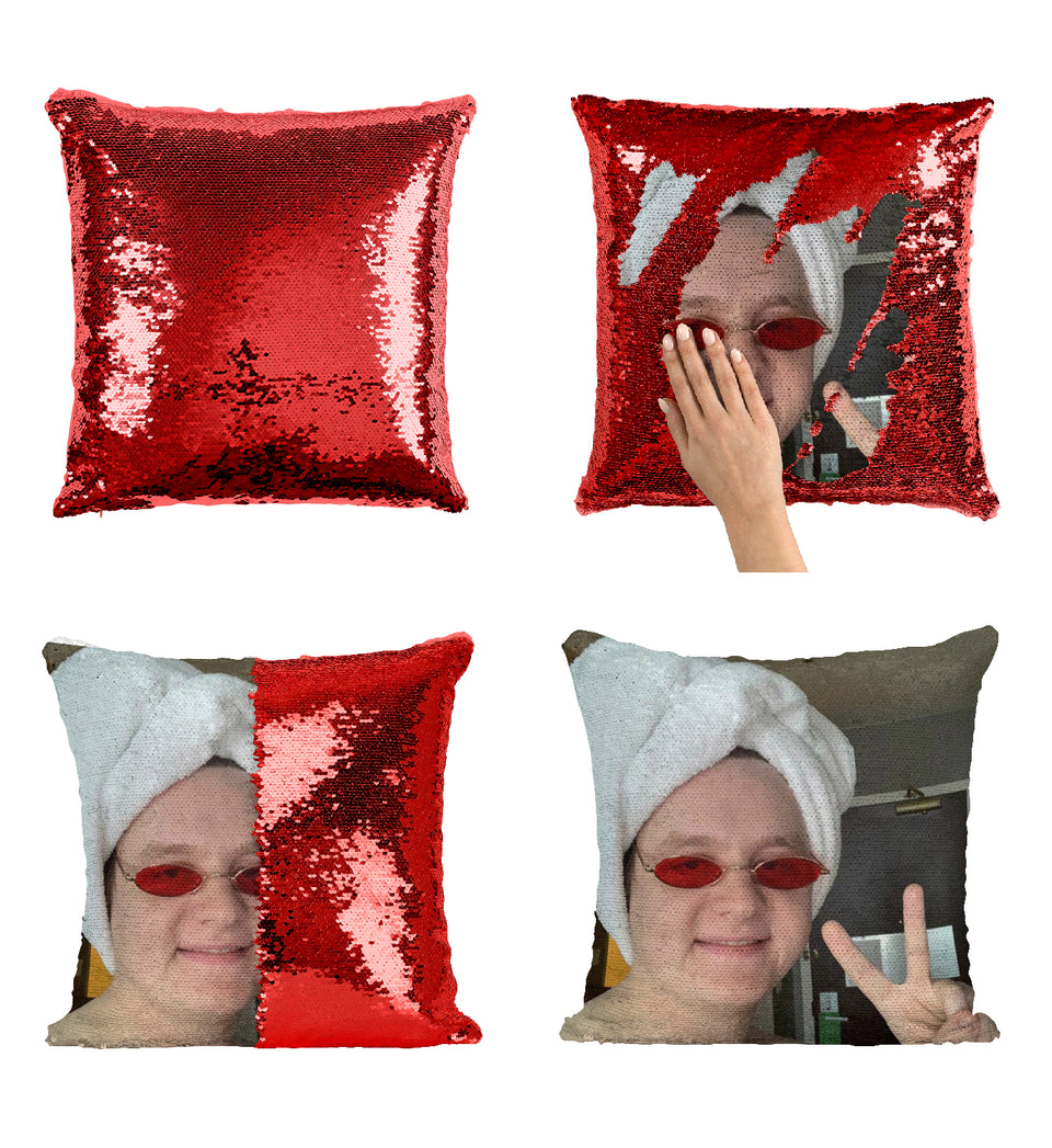 Lewis Capaldi Towel Head Peace Sign_MA0828 Sequin Pillow